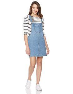 89a95a76f521 Lily Parker Women's Classic Adjustable Strap Denim Overall Dress-Denim  Dresses Denim Overall Dress,