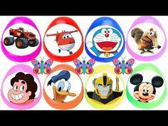 8 huevos sorpresa de Steven Universe Doraemon Mickey Mouse Donald Super Wings Blade robots transform - YouTube