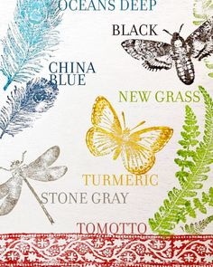 Get the new ink colors! Tumeric, Ocean Deep, Grass, Tomotto, and White mixing ink Distressed Decor, Small Flower Pots, Grass Decor, Ocean Deep, Iron Orchid Designs, Show White, Butterfly Decorations, Wall Finishes, How To Make Pillows