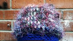 Unique Beanie Cool Blues Crochetted by HeartsideGallery on Etsy