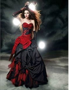 I found some amazing stuff, open it to learn more! Don't wait:http://m.dhgate.com/product/red-and-black-gothic-wedding-dresses-2016/388559548.html
