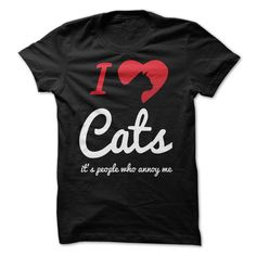 Cat Lovers Merchandise | Love Cats, It's People Who Annoy Me