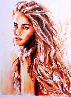 🍂🍁 Bambi 🍁🍂 ~ Oil on Canvas Watercolor Face, Watercolor Artwork, Watercolor Portraits, Japanese Tattoo Art, Organic Art, Fashion Wall Art, People Art, Art Sketchbook, Portrait Art