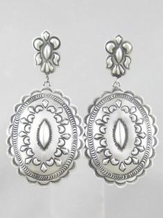 Handmade Sterling Silver Earrings - Eugene Charley for $132.00 | Sterling Silver Jewelry | Native American Jewelry