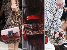 Spring/ Summer 2017 Handbag Trends: Snakeskin Bags/ Purses