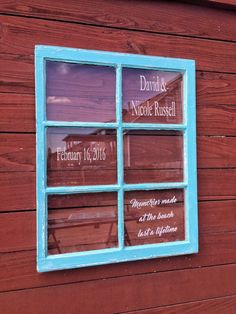 wedding windows  wedding decor  personalized by SandJBargainVault