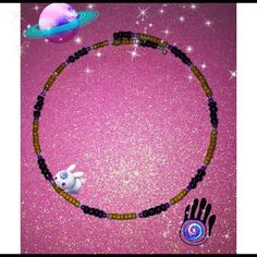 hi DeR cHokEr✨ Purple blue and tan beads making a very beachy vib choker✨(-: Moongypsy Jewelry Necklaces
