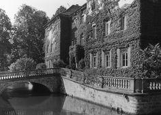 R143 Sachsens Schlösser und Burgen - R143066 Elbland Zabeltitz Palais Neues Schloß Ostseite mit Brücke und Wassergraben