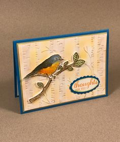 June Team Swap created by Claudia and made with the Best Birds Stamp Set, the Birds and Blooms Thinlits Dies and the Woodland Embossing Folder