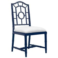 Bungalow 5 Chloe Navy Side Chair