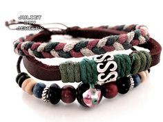 Auspicious leather bracelet lucky bracelet