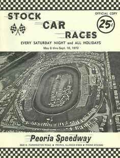 Peoria Speedway!! East Peoria, Peoria Illinois, Back In The Day, Old Pictures, Race Tracks, Racing, Memories, Nascar, Plays