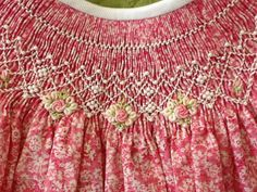 Smocking inspiration on pink floral.