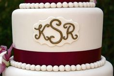 Art of Dessert: Tutorial: Wedding Monogram