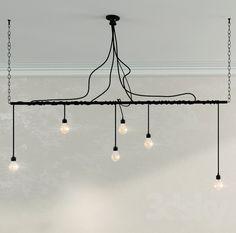 Chandelier lights in the style of Loft