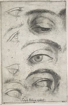 Jusepe de Ribera Studies of Eyes Etching, ca. 1622 · Fogg Museum