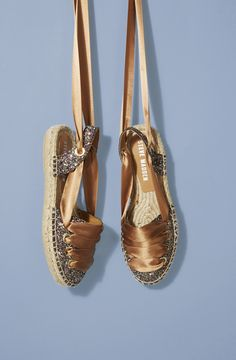 Sequin, ribbon and sling-back details: The classic espadrille gets an upgrade for spring, courtesy of Steve Madden. Practical and chic in equal measure, they're the perfect partner for exotic adventures.