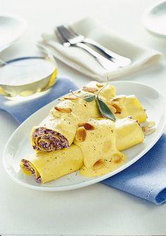 Cannelloni con radicchio e zabaione salato