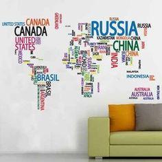 Vinilos Decorativos - Mapamundi - Mapas - Mundo - $ 699,99
