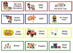 DIY Toy Bin Labels - plus a free printable of labels