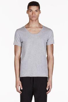 ACNE STUDIOS Heathered Grey Basic T-Shirt