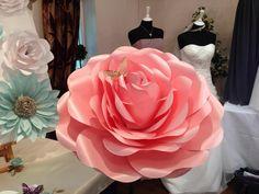 60cm (24) Colossal Paper Rose with 100cm Stem