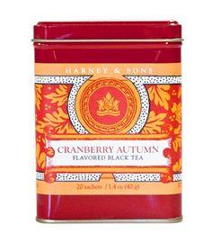 Cranberry Autumn Tea Sachets, Count, Autumn Tea, Drinks, Food, Design, Coffee Cans, Tin, Pewter