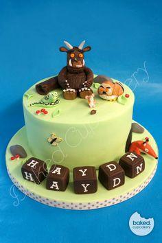 Gruffalo cake ideas 3rd Birthday Cakes, Fourth Birthday, Boy Birthday, Birthday Parties, Gruffalo Party, First Birthdays, Cake Recipes, Cake Decorating, Fun Things