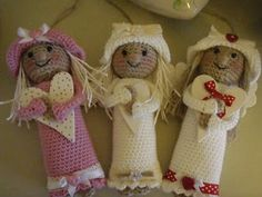 crochet tutorial for amigurumi angel ♥ Crochet Amigurumi, Amigurumi Doll, Amigurumi Patterns, Crochet Dolls, Crochet Patterns, Crochet Winter, Holiday Crochet, Christmas Knitting, Christmas Angels