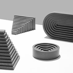 """Klemens Schillinger casts concrete accessories<br /> to resemble """"ancient architectural archetypes"""""""