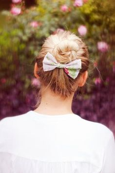 Vintage Floral Hair Bows- IN 2 SIZES