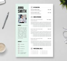 3page resume Cover letter Reference page // by ResumeAngels