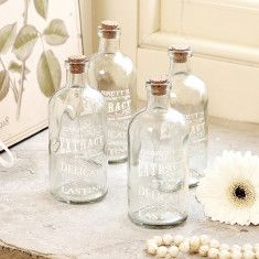 Glass Bottle with Cork Stopper