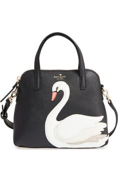 KATE SPADE 'swan - small maise' leather satchel. #katespade #bags #shoulder bags #hand bags #leather #satchel #lining #