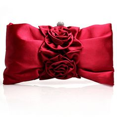 TopTie Double Roses Satin Clutch  #heart  #Valentine's