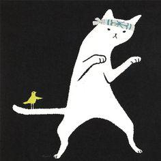 Karate Cat Card