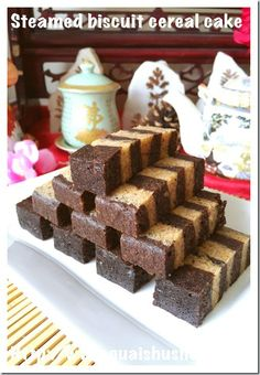 Steamed Biscuit Cereal Cake (饼干麦片蒸糕) #guaishushu #kenneth_goh   #sarawak_steamed_cake