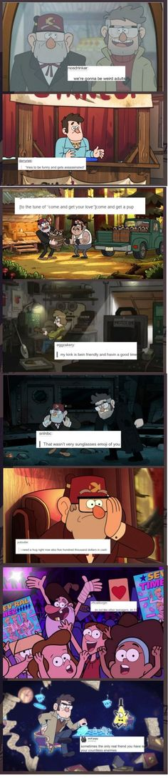 I laughed so hard at (old) Mcgucket¨s XD #GravityFalls #TextPost