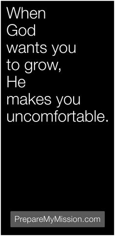 It's ok to be uncomfortable.