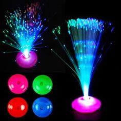 12 abajour neon abajur peteca fibra optica festa aniversario
