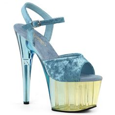 c45bea1a902a ADORE-709MCT Light Blue Crushed Velvet Dual Tinted ◈ Seductive Shoes UK ◈  RalphCorbett