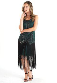 Pamela Scott Green Sequin and Fringe Hem Dress Kids Boots, City Style, Barbour, Cocktail Dresses, Ted Baker, Dresses Online, Sequins, Lady, Green
