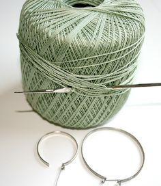 Crocheted Earrings *Tutorial*.