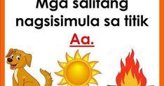 """Ano-ano ang mga salitang nagsisimula sa titik """"a""""? Kilalanin ang mga titik o letra gamit ang mga sumusunod na tsart.         Disclaimer: ..."""