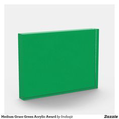 Medium Grass Green Acrylic Award