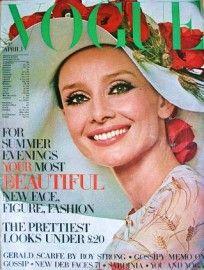 British Vogue April 1971. Model Audrey Hepburn