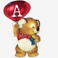 Alfabeto de Koala con globo.