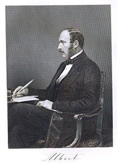 """Portrait Gallery - """"ALBERT - PRINCE CONSORT TO QUEEN VICTORIA"""" - Steel Engraving - 1874"""
