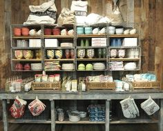 Rustic merchandise display ideas love this anthropologie dis