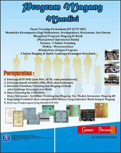 Pusat Training Perbankan Yogyakarta: Program Magang Mandiri